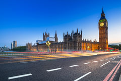 Big Ben and Palace of Westminster in London Stock Photo