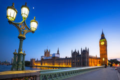 Big Ben and Palace of Westminster in London Royalty Free Stock Image