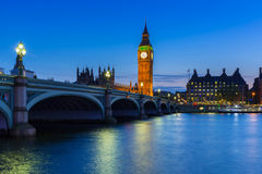 Big Ben and Palace of Westminster in London Stock Image