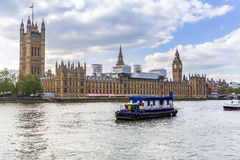 Big Ben and the Palace of Westminster in London Stock Photos