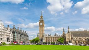 Big Ben and the Palace of Westminster Timelapse stock video footage