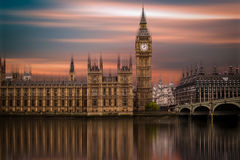 Big Ben, palazzo di Westminster (Camere del Parlamento) Fotografia Stock
