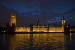 Big Ben - Parliament. Big Ben/Parliament at dusk under purple sky Royalty Free Stock Image