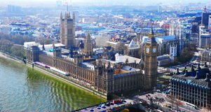 Big Ben and the Parliament Building, London Royalty Free Stock Photos