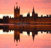 Big Ben with Parliament at the evening, London, UK Stock Photo