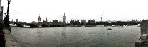 Big ben parliament house panorama view uk London Royalty Free Stock Photo
