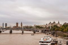 Big Ben, Parliament House and Thames, view from the bridge. United Kingdom. London. stock photos