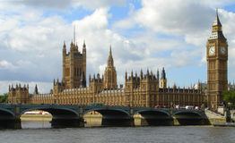 Big Ben and Parliament in London Stock Images