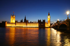 Big Ben and parliament in London Stock Photos