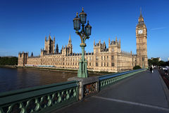 Big Ben with parliament, London, UK. Big Ben with bridge in London, UK Royalty Free Stock Photography
