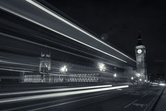 Big Ben, The Parliament & The Street Lights. Big Ben is the nickname for the Great Bell of the clock at the north end of the Palace of Westminster in London, and Royalty Free Stock Photo