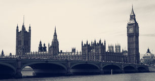 Big Ben and Parliament vintage Royalty Free Stock Photo