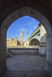 Big Ben through the pedestrian tunnel Stock Image