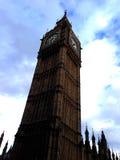 Big Ben. Photo of Big Ben in London, Blue sky surrounding the clock Stock Image