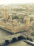 Big Ben. Photo of Big Ben in London, Blue sky surrounding the clock Royalty Free Stock Photos