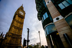 The Big Ben. Picture of two different buildings in London Stock Photos