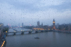 Big ben in the rain Royalty Free Stock Photography