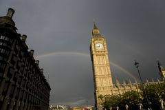 Big Ben with Rainbow Royalty Free Stock Photo