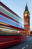 Big Ben an Red Bus in London Stock Photo