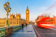 Big Ben and red double-decker bus, London Royalty Free Stock Image