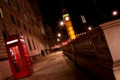 Big Ben and Red Phone Booth Royalty Free Stock Photography