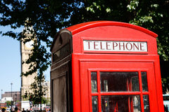 Big Ben and Red Telephone Booth Royalty Free Stock Photos