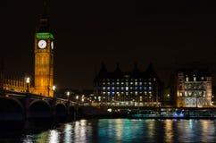 Big ben reflection. On thames - london - uk Stock Image