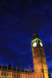Big Ben, regina Elizabeth Tower alla notte Fotografia Stock Libera da Diritti