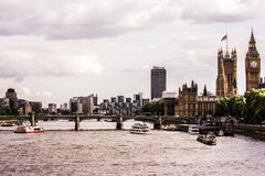 Big Ben, River Thames and Houses of Parliament, London Stock Photography
