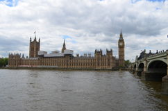 Big Ben and river Thames Royalty Free Stock Photos