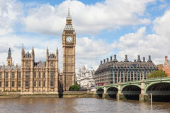 Big Ben and the River Thames Royalty Free Stock Images