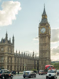 Big Ben and road traffic in London Royalty Free Stock Photo