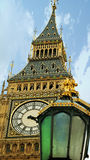 Big Ben and Royal lamps. The Clock Tower of Big Ben in London Royalty Free Stock Photography