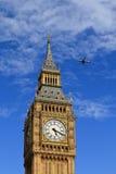 Big Ben & samolot Obrazy Stock