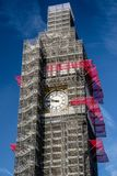 Big Ben Scaffolding. In London, Great Britain royalty free stock photography