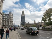 Big Ben with Scaffolding 02 Royalty Free Stock Photos