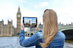Big Ben on the screen Stock Images