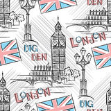 Big Ben seamless Stock Photography