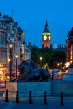 Big Ben seen from Trafalgar Square in London, England Stock Photography