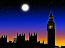 Big ben silhouette Royalty Free Stock Photography