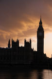 Big Ben silhouette Royalty Free Stock Photo