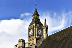 Big Ben - slott av Westminster Arkivbilder