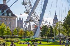 Big Ben slott av Westminster london uk Arkivfoto