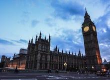 Big Ben solnedgångljus royaltyfri fotografi