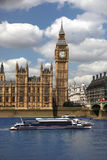 Big Ben with speed boat, London, UK Stock Photography