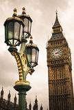 Big Ben and street lamp Royalty Free Stock Images