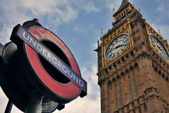 Big Ben subterrâneo Foto de Stock Royalty Free