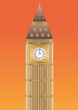 Big ben at sundown Royalty Free Stock Images