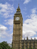 Big Ben on a sunny day. Big Ben at the Palace of Westminster, home of the Parliament royalty free stock image