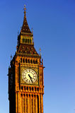 Big Ben in the sunny day blue sky. Artistic water colour filter - Palette Knife.  stock photos